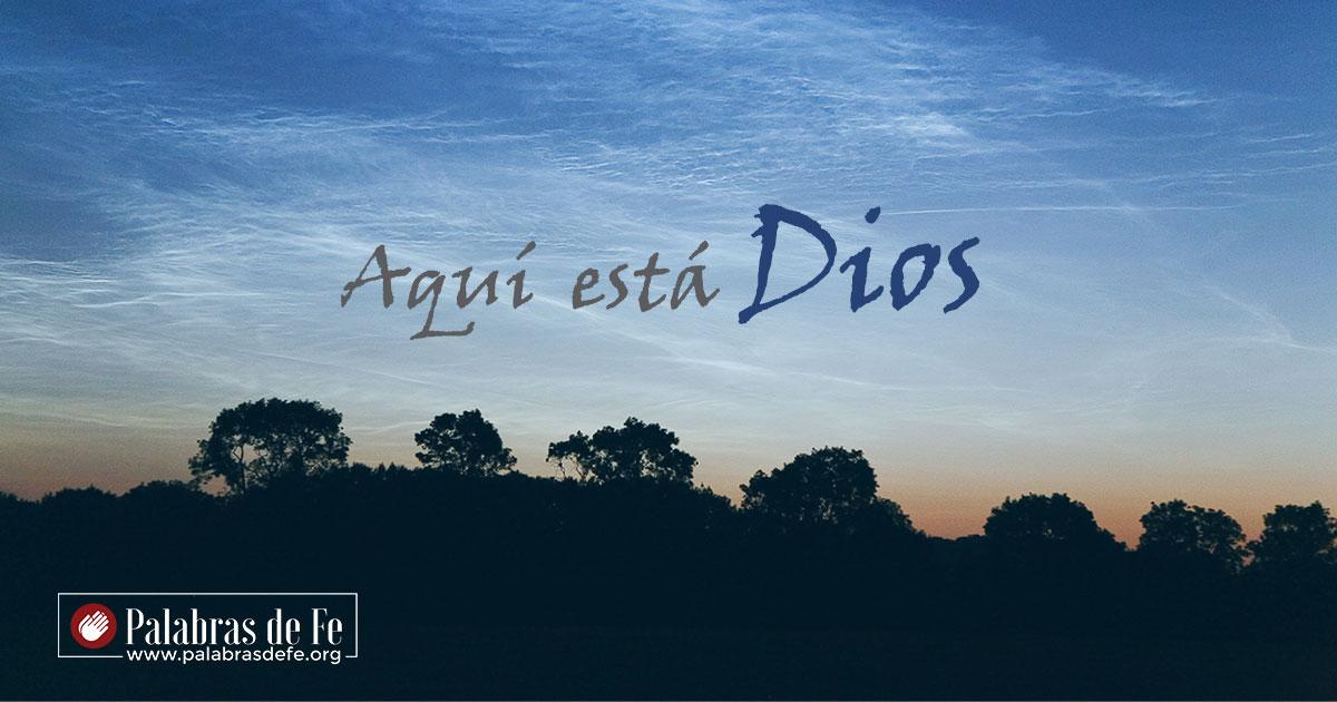 devocional aqui esta Dios palabras de fe 12102018 fb